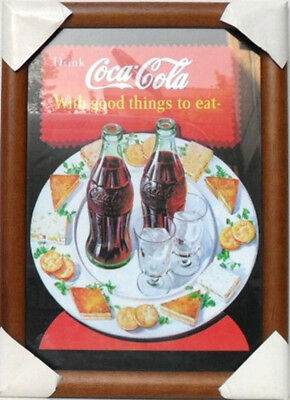 "Coca-Cola - QUADRO d/MURO ""WITH GOOD THINGS TO EAT"" - MARRONE-cm.49,5x36-gr.1290"