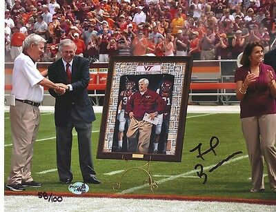 Frank Beamer Virginia Tech Hokies 8X10 Signed photo 1
