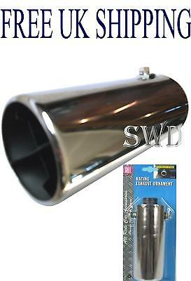 Car Exhaust tip trim tail pipe muffler adjust universal tailpipe cover chrome