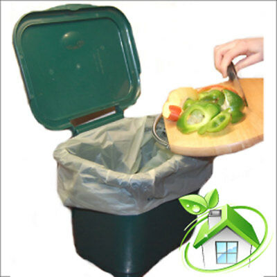 Food Waste Bags ~  7/8L ~  1 roll ~ 25 Bags ~ Biodegradable Caddy Liners