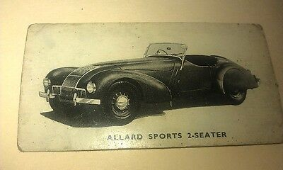 1949 ALLARD SPORTS   Orig Kelloggs Swap Card