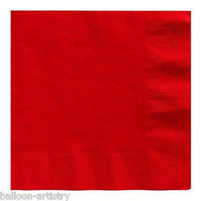 20 RED 33cm Paper Napkins Serviettes Birthday Wedding Party Catering