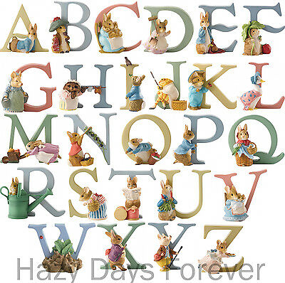 BEATRIX POTTER Alphabet Letters  Border Fine Arts Peter Rabbit Enesco