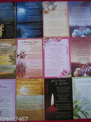 Graveside Bereavement Memorial Cards  Lots Of Different You Choose