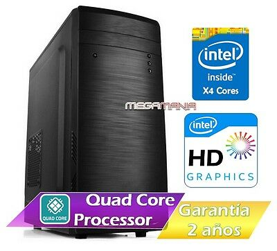 Pc Ordenador Sobremesa Nuevo Intel Quad Core J1900 | 4Gb Ram | 500Gb Hdd | Rw