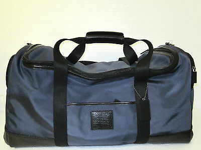 Coach Voyager Cabin Nylon w/ Leather Travel Luggage Bag F77216