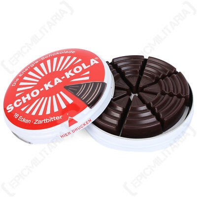 Scho-Ka-Kola German Caffine Dark Chocolate - Tin Gift WW2 Sweets Energy Boost