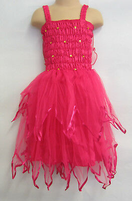 Fairy Dress With Wings Ballet Tutu Dance Costume Hot Pink 5-7 Years Polyester