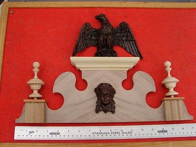 21C Replacement Vienna wall clock top crown topper 17.25ins max width.