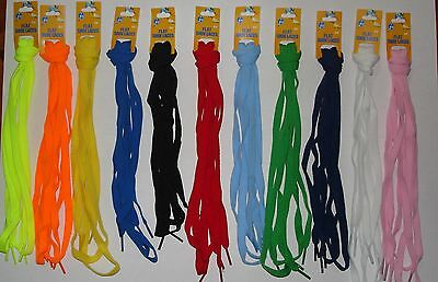 "1 Pair Flat Shoelaces 54"" inch Many Colors to Choose Shoe Strings"