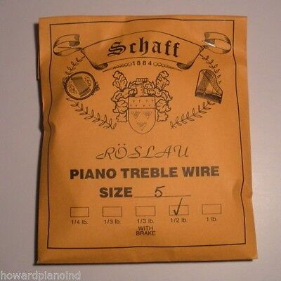 "Piano Music Wire Roslau 1/4 lb coil Choose Size 0 (.009"")"