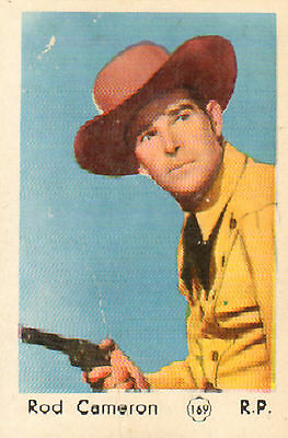 DUTCH MOVIE STAR GUM CARDS - No. 169 ROD CAMERON