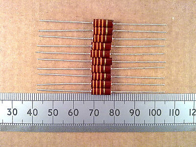 Qty 10 : 0.5W 5% Brown Carbon Resistor, Ten Resistors 0.5 Watt 10K - 820K Ohm