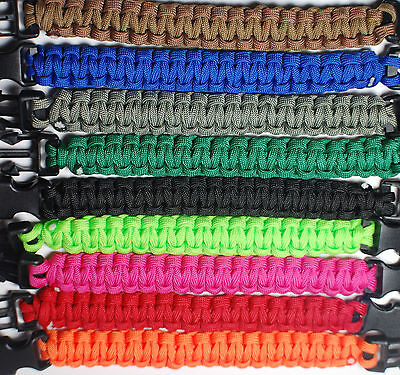 """NEW 8"""" Paracord 550 LB Strand Bracelet 8 Feet Cord Hunting Camping Military Gear"""