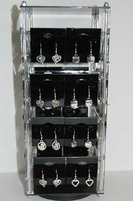 Revolving Acrylic Earring Display Stand Holds 32 2 X Cards