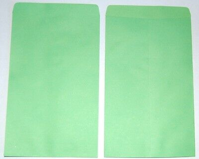 """NEW 20pcs Small Green Paper Gift / Merchandise Bags 4 3/4"""" W x 7"""" H"""