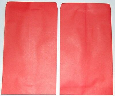 """NEW 20pcs Small Red Paper Gift / Merchandise Bags 4 3/4"""" W x 7"""" H"""