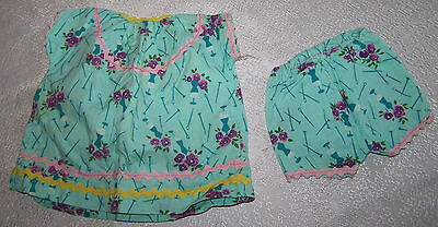 Vintage HOME MADE DOLL CLOTHES Hand Made Quality 1950's TOP & BOTTOMS PO