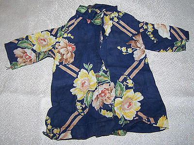 Vintage HOME MADE DOLL CLOTHES Hand Made Quality 1950's FLORAL DRESS PO
