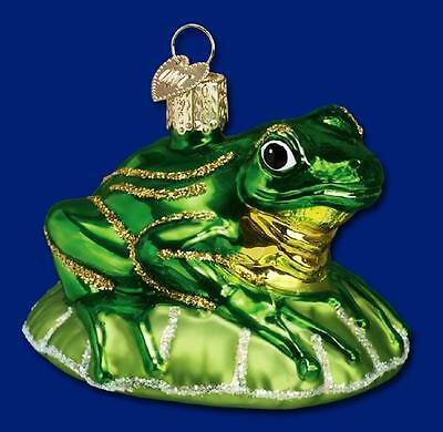 Old World Christmas Frog On A Lily Pad Ornament 12058 15