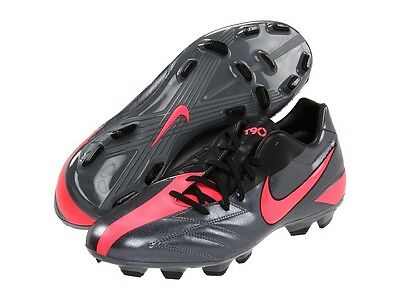 Nike Total 90 Shoot IV FG 2011 Soccer Shoes Dark Gray   Red   Black Kids 20ab5e2c0d02