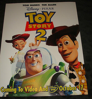 Walt Disney's TOY STORY 2 movie poster, video release