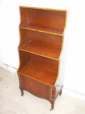 A Truly Stunning Inlaid Mahogany Victorian Bookshelves / Cabinet c1900s
