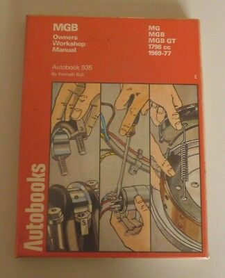 MGB Owners Workshop Manual Autobook 935 by Kenneth Ball