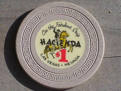 $1 VINTAGE EDT GAMING CHIP FROM THE HACIENDA CASINO LV NEVADA