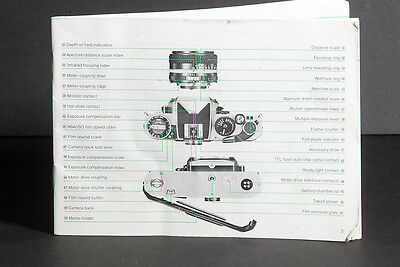 Nikon FE2 Camera Genuine Instruction Book / Manual / User Guide