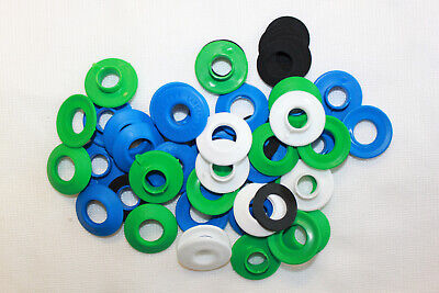 Plastic Tarpaulin Replacement Eyelets Kit 12mm & 20mm Green Blue Black White Red