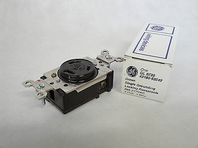 NEW IN BOX GENERAL ELECTRIC GL0720 GL-0720 BROWN LOCKING RECEPTACLE 43180-53548