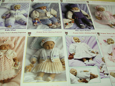 Jacquay Yaxley - KNITTING PATTERN For Baby Doll - Premature Baby Outfits