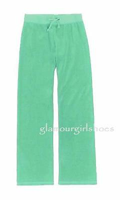 Juicy Couture~Girls Icy Teal Blue Velour Pants~7~Nwt