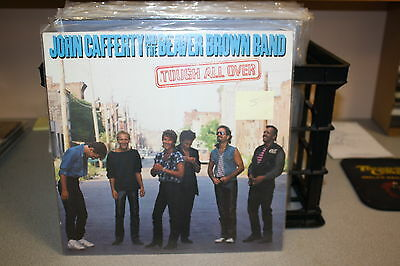 """JOHN CAFFERTY AND THE BEAVER BROWN BAND """"TOUGH ALL OVER"""" LP 1985"""
