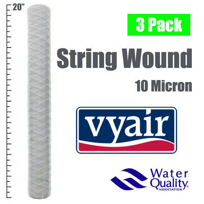 "20""  Bio-Diesel Vegetable Oil Wound Particle Filters 10 Micron Pack Of 3"
