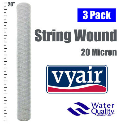 "20""  Bio-Diesel Vegetable Oil Wound Particle Filters 25 Micron Pack Of 3"