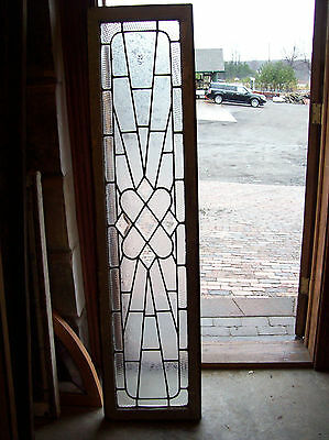 Textured glass window outburst with bevel center pieces (SG 1138)