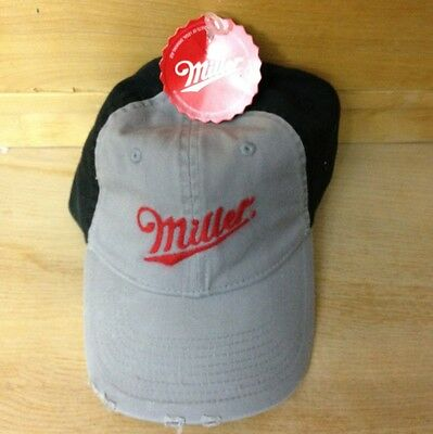 MILLER Hat Distressed Black And Gray