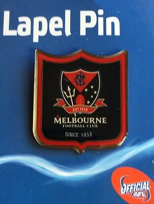 Afl Badge Lapel Shield Pin Melbourne Demons Football Freight Free New On Card