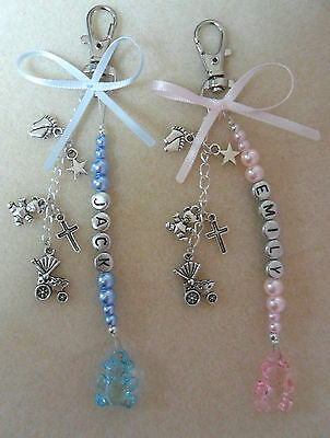 Pram / Changing Bag Charm Baby Personalised