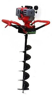 """One Man 52cc 2HP Gas Post Hole Planting Earth Digger Auger w/ 6"""" Auger Bit"""