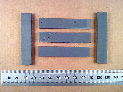 Qty 5 : 62mm Rectangular Ferrite Slab, AM MW / LW Radio Loopstick Aerial Core