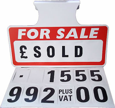 10 x For Sale Sign Board, Car Price/Pricing Sun Visor, Vehicle/Auto Price Unit