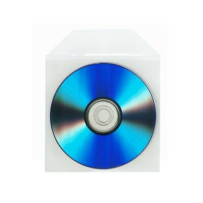 1000 Wholesale CPP Clear Plastic Sleeve Bag Envelope with Flap CD DVD Disc Thick