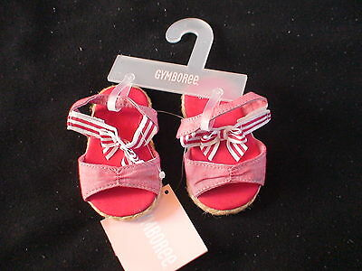 NWT GYMBOREE VENICE SWEETIE RED CRIB SHOES SANDALS LAYETTE