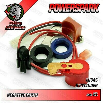 Powerspark Electronic Ignition Kit Lucas 22D6 25D6 with Powermax Red Rotor Arm