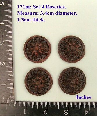 "171M ""4 Circular badges"" clock case / furniture DIY"