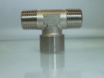 1/2 Bsp Female Centre Tee with Male outlets 3 Way Tee Fitting 1 Off