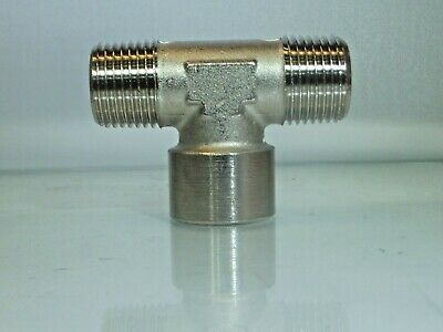 1/4 Bsp Female Centre Tee with 1/*4 Bsp Male outers 3 Way Tee Fitting 1 Off